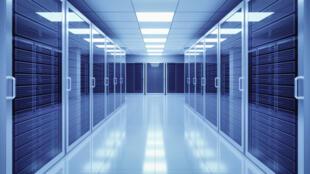 Intérieur d'un centre de données (image d'illustration).