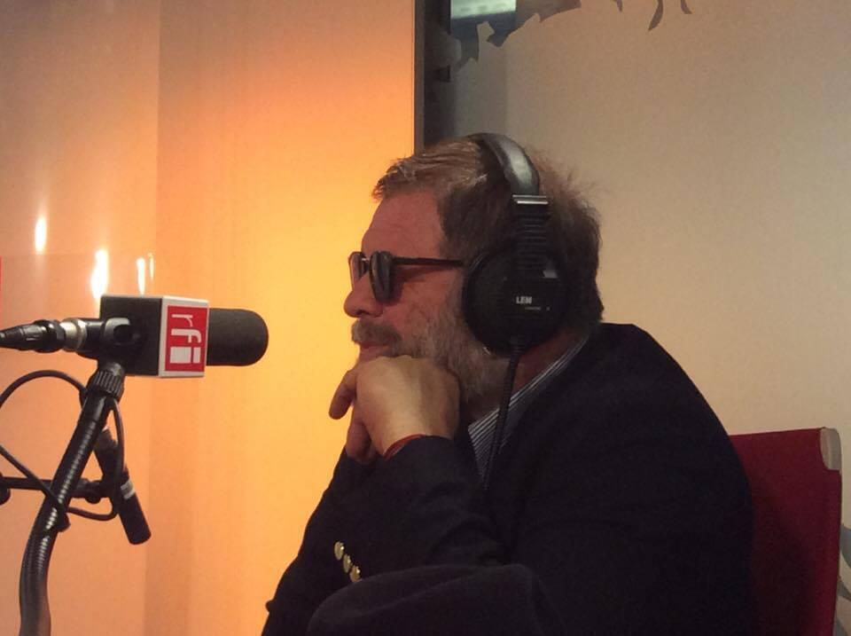 Борис Гребенщиков в парижской студии RFI, 5 марта 2017 года