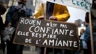 Dans la manifestation à Rouen ce mardi 1er octobre 2019.