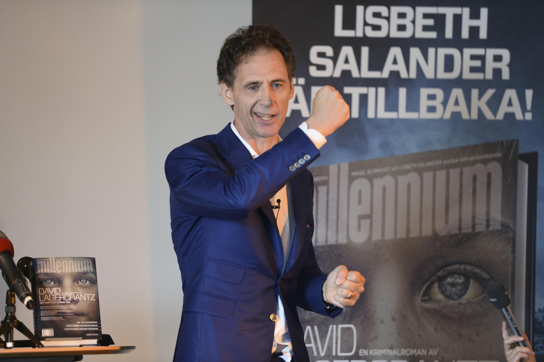 David Lagercrantz, tác giả tập thứ tư Millenium nhân ngày phát hành tiểu thuyết tại Stockholm 26/08/2015