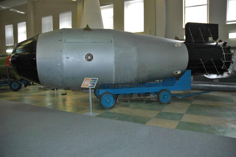 Réplique de la «Tsar Bomba» présentée dans le musée de la Bombe atomique à Sarov.