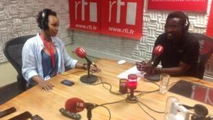 Msanii Malaika katika studio za RFI Kiswahili jijini Dar es Salaam