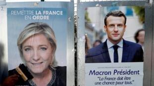 Os eleitores de Marine Le Pen e Emmanuel Macron espelham duas Franças opostas