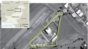 Vue aérienne de la villa de ben Laden au Pakistan.