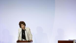 La ministre de la Santé Marisol Touraine lors de la Grande conférence santé du 11 février 2016 à Paris.