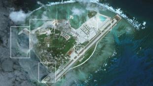 Ảnh vệ tinh chụp đảo Phú Lâm, Hoàng Sa ngày 28/01/2017 (nguồn: https://amti.csis.org/paracels-beijings-other-buildup/)