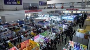 Một góc Hội chợ Quốc tế Mùa xuân Bình Nhưỡng ngày 20/05/2019.