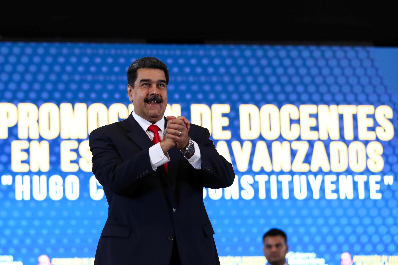 Tổng thống Venezuela Nicolas Maduro vừa chịu thêm sức ép cấm vận từ Mỹ nhắm vào công ty dầu lửa nhà nước PDVSA. Ảnh minh họa ngày 26/04/2019.
