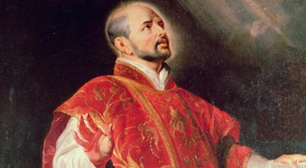 Игнатий Лойола, основатель ордена Иезуитов - портрет работы Рубенса (деталь)