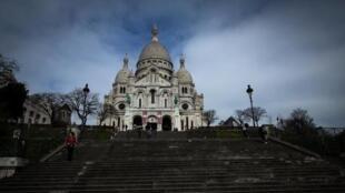 Basílica do Sacré Coeur fechou pela primeira vez desde a sua construção.
