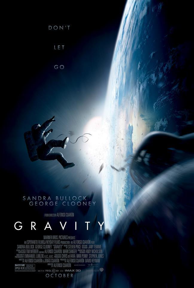 """Detalhe do cartaz do filme """"Gravidade"""", de Alfonso Cuarón, que abrirá o 70° festival de cinema de Veneza."""