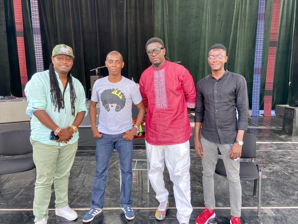 Didier Awadi, Claudy Siar, Simon Kouka et notre correspondant au Sénégal Cheikh Coka