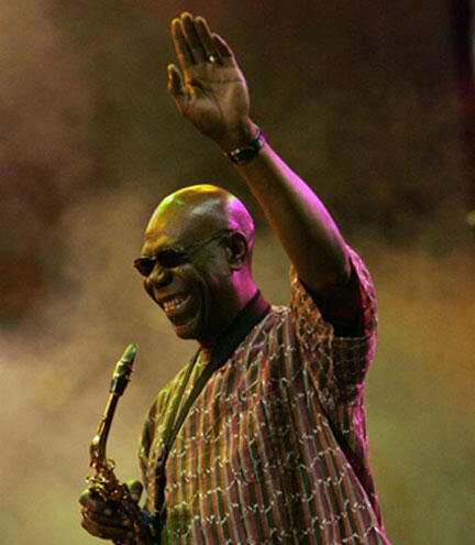 Legendary Cameroonian saxophonist Manu Dibango is just one of many artistes featured