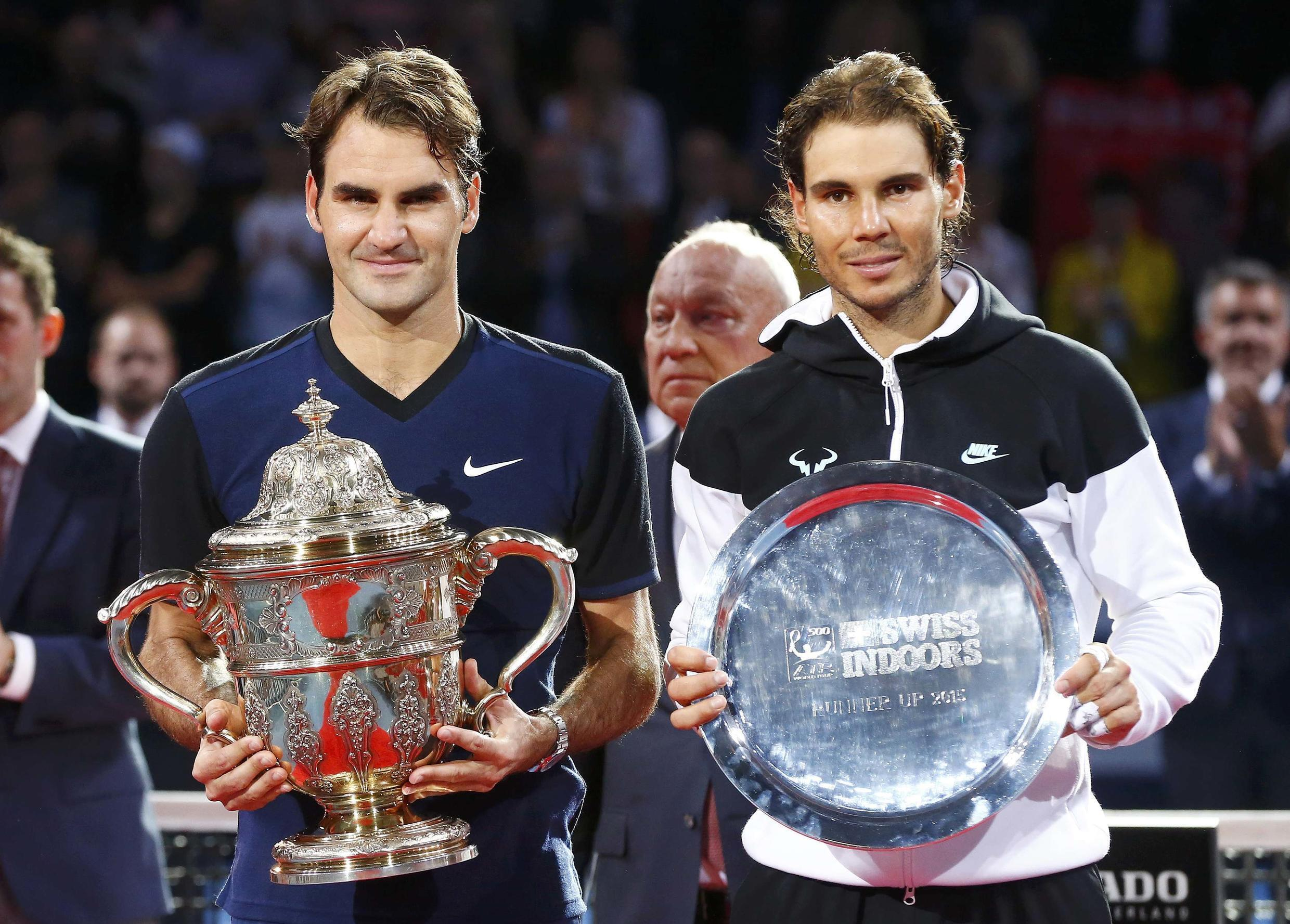 Roger Federer (left) beat Rafael Nadal for the first time in six matches.