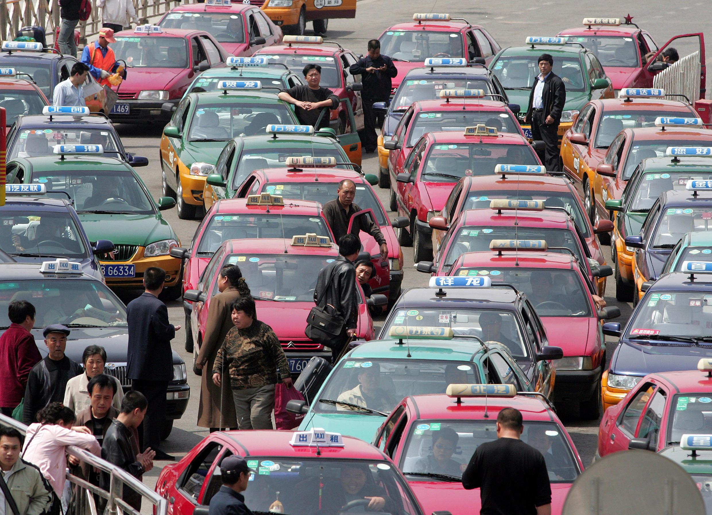 Một bến taxi ở Trung Quốc.