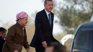 رجب طیب اردوغان و مسعود بارزانی