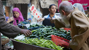 Marchand de piments du Caire.