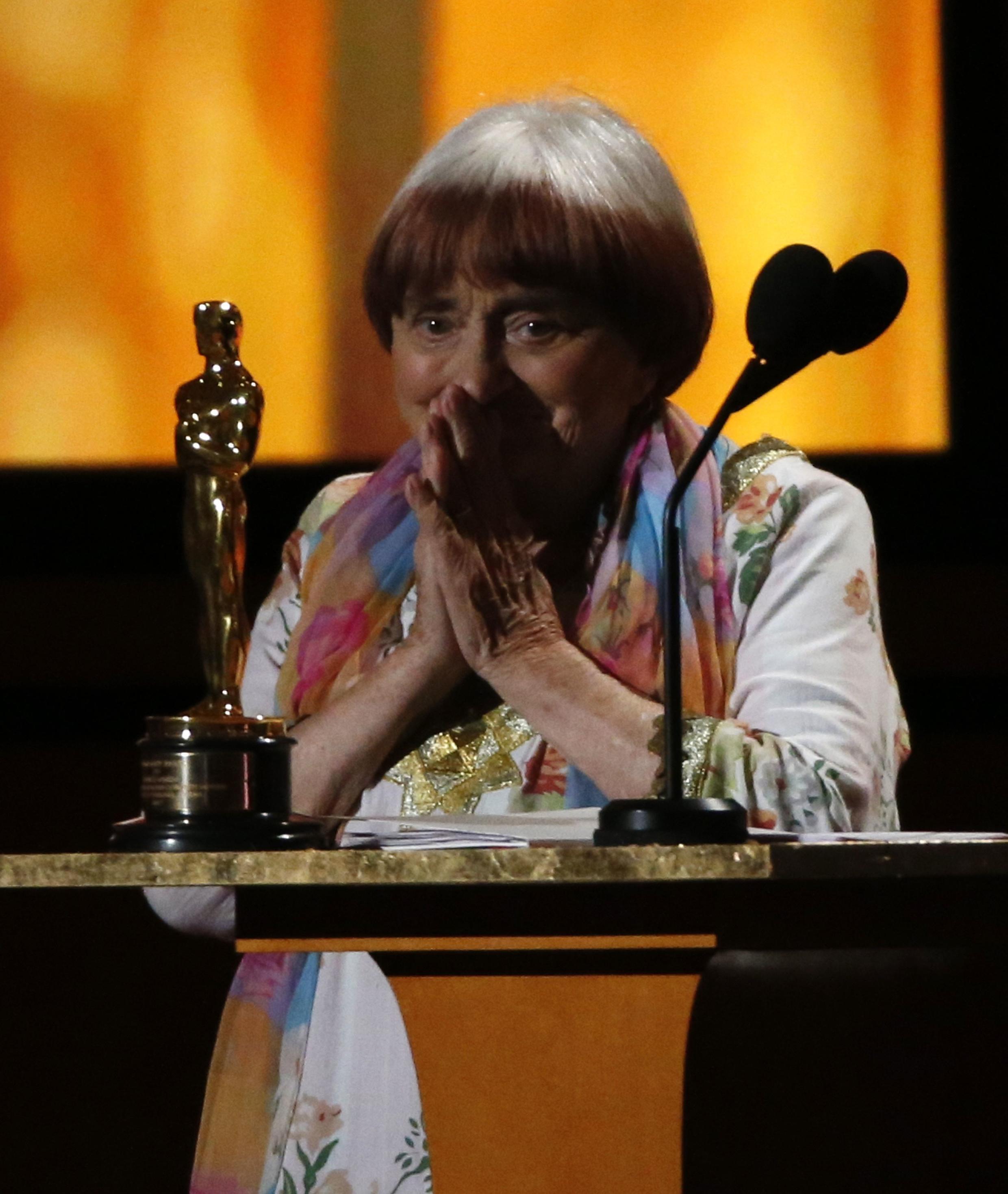 La réalisatrice française Agnès Varda, le 11 novembre 2017 à Los Angeles.