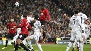 Choque  frontal entre o Manchester United e o Real Madrid