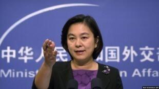 圖為中國外交部發言人華春瑩(資料圖片)
