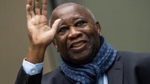 L'ancien président ivoirien Laurent Gbagbo, le 6 février 2020, devant la Cour pénale internationale.