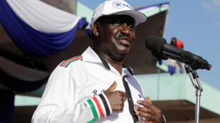Kiongozi wa muungano wa upinzani (NASA) Raila Odinga.