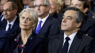 François and Penelope Fillon on 29 January 2017 in Paris
