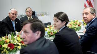 美國國務卿蒂勒森與俄羅斯外長拉夫羅夫會談
