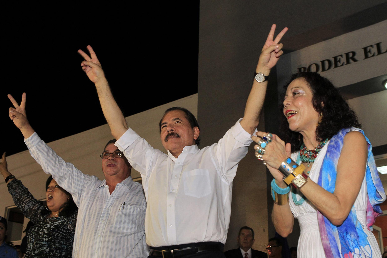 Daniel Ortega, président du Nicaragua après la confirmation de sa réélection par le Conseil électoral suprême.