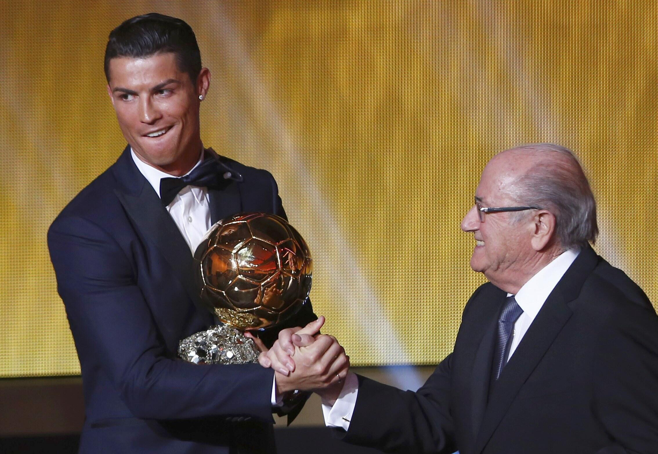 Cristiano Ronaldo, vencedor da Bola de Ouro'2014.