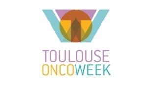 Emblema del coloquio de cáncer Toulouse OncoWeek,  del 3 al 7 de febrero del 2016 en la ciudad de Toulouse, al sur de Francia