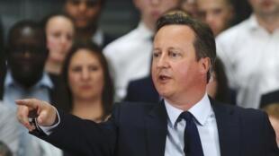Le Premier ministre britannique, David Cameron, a reconnu avoir bénéficié d'actions offshore, le 7 avril 2016.