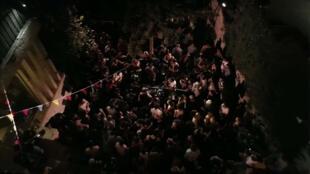 Une soirée apparaissant au début du documentaire «Palestine Underground».