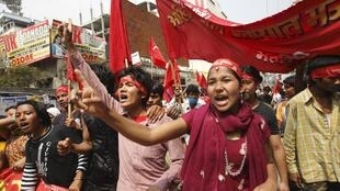 Maoists demonstrate on Saturday