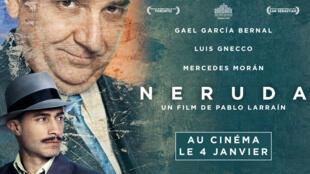 """""""Neruda"""", la cinta del chileno Pablo Neruda, llega a las salas de cine de Francia."""