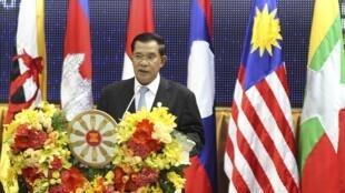 Thủ tướng Cam Bốt Hun Sen tại Hội nghị Thượng đỉnh Asean.