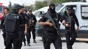 Сотрудники спецслужб Туниса, октябрь 2014 г.