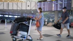 Passagers dans l'aéroport de Split en Croatie, le 21 août 2020 (image d'illustration).