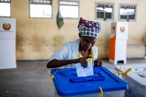 Voto na Escola Primária da Munhava, na Cidade da Beira. 15 de Outubro de 2019.