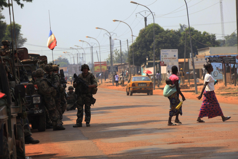 中非共和國首都班吉街頭 2013年12月23日