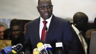 Le nouveau président sénégalais, Macky Sall, le 25 mars 2012.