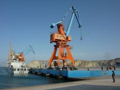 巴基斯坦中資港口瓜達爾港。