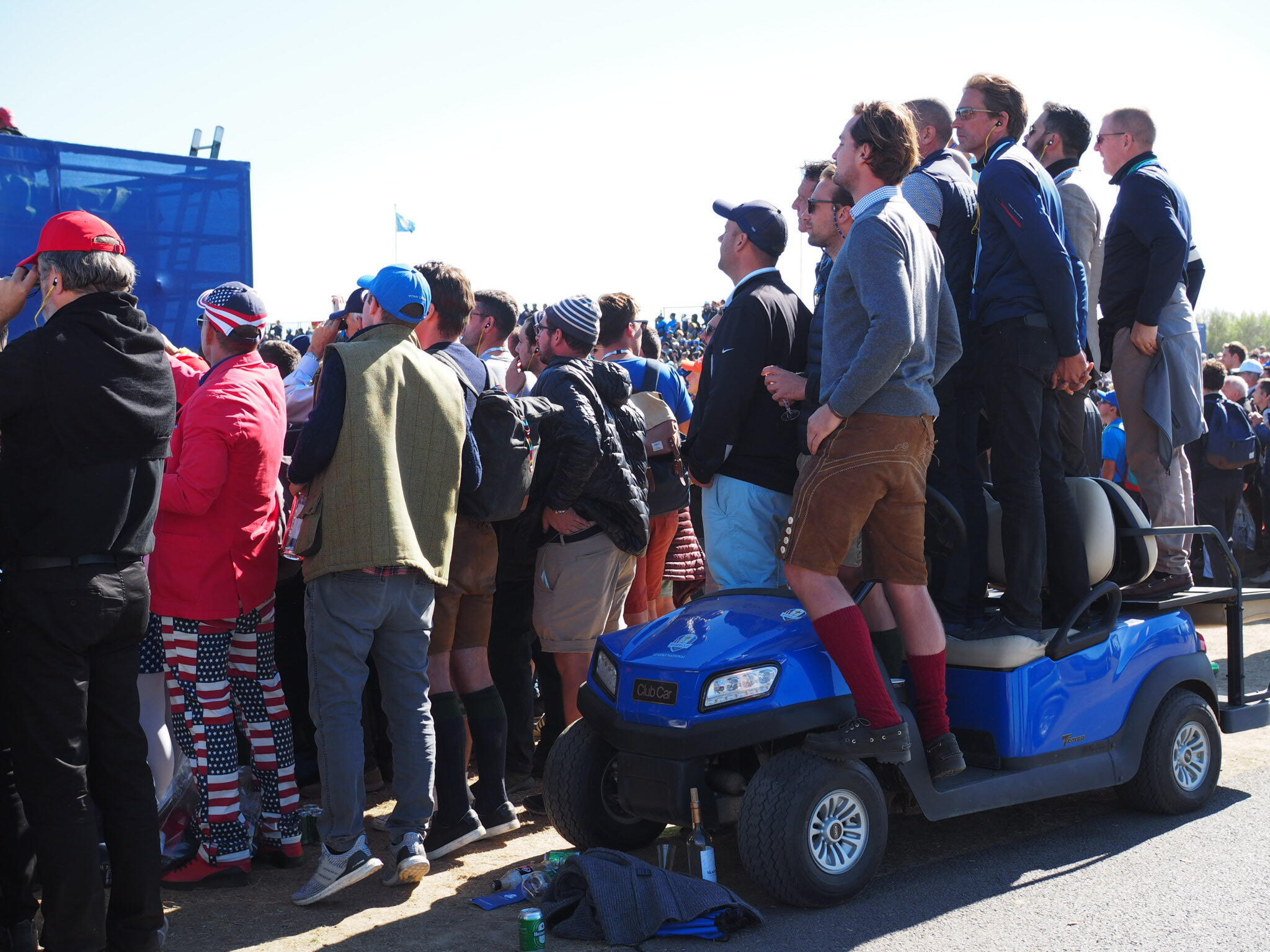 Spectators at this year's Ryder Cup