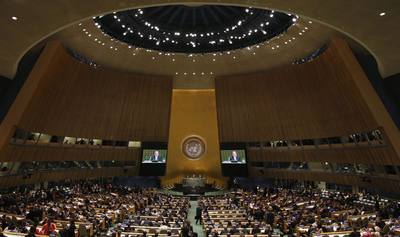 Ceremonia de apertura de la Cumbre Mundial sobre el Cambio Climático, en la sede de la ONU, Nueva York, este 23 de septiembre.