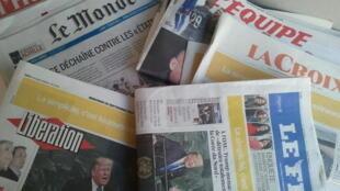 Primeiras páginas dos jornais franceses de 20 de setembro de 2017