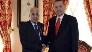 Премьер-министр Турции Эрдоган встречается с председателем ЛАГ Набилем Эль Араби 13/10/2012