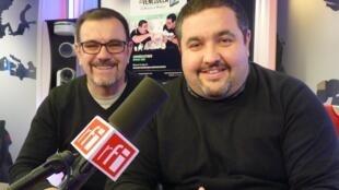 Laureano Márquez y Eduardo Sanabria en los estudios de RFI