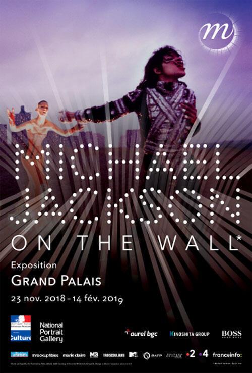 Affiche de l'exposition «Michael Jackson On the wall» au Grand Palais.