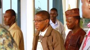 Rais wa zamani wa Guinea aliyefanya mapinduzi ya kijeshi, Moussa Dadis Camara, mwaka 2010 Ouagadougou.