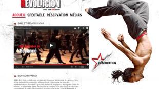 Capture d'écran du site internet de la troupe cubaine «Ballet Revolución».